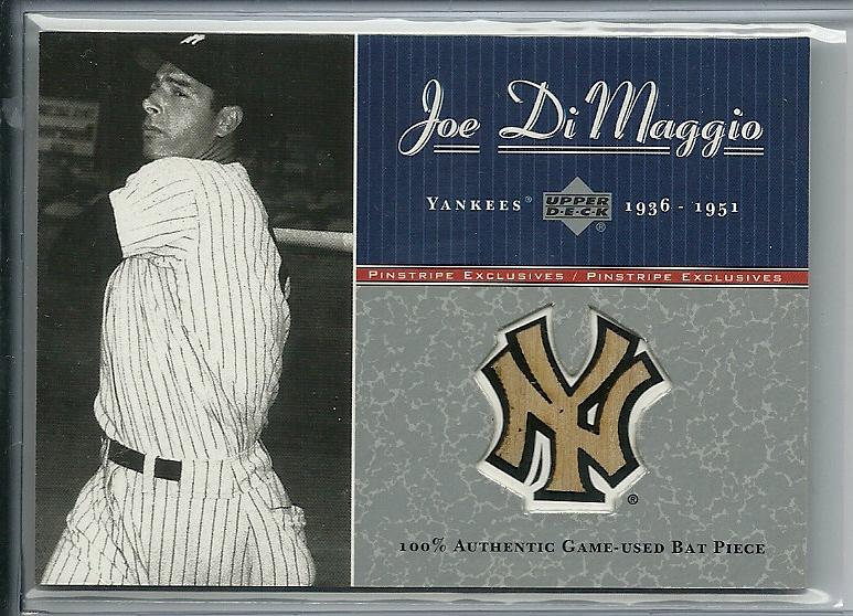 2001 Upper Deck Pinstripe Exclusives DiMaggio Memorabilia #B4 J.DiMaggio Bat/100
