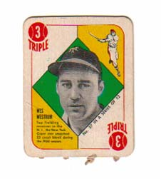 1951 Topps Red Backs #37 Wes Westrum RC