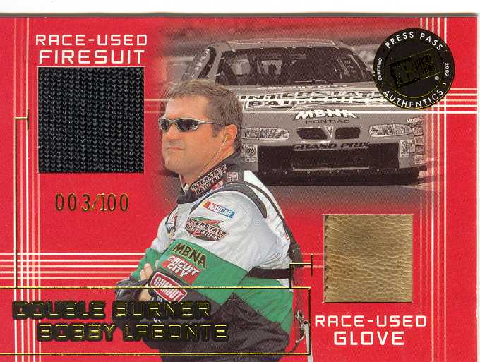 2001 Press Pass Double Burner #DB9 Bobby Labonte