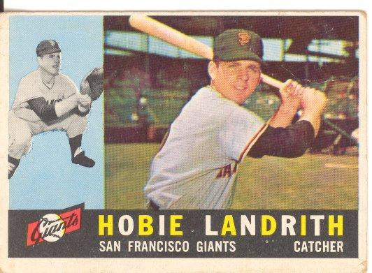 1960 Topps #42 Hobie Landrith