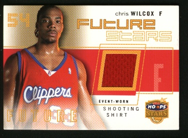 2002-03 Hoops Stars Future Stars Game-Used #FSGU1 Chris Wilcox