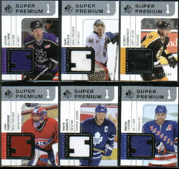 2002-03 SP Authentic Super Premium Jerseys #SPTH Jose Theodore