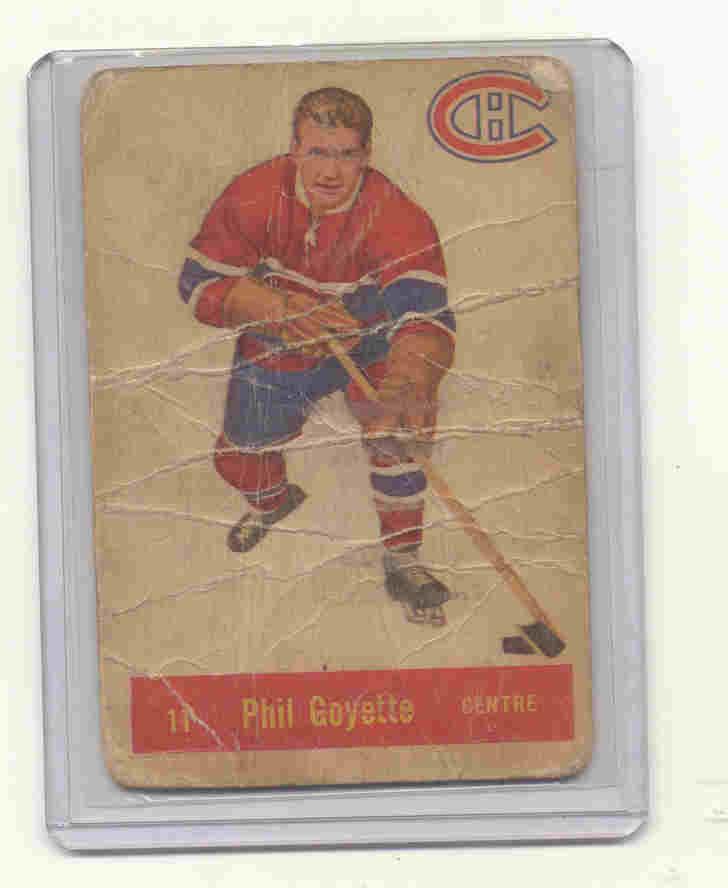 1957-58 Parkhurst #M11 Phil Goyette RC