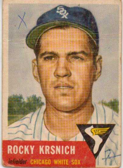 1953 Topps #229 Rocky Krsnich RC