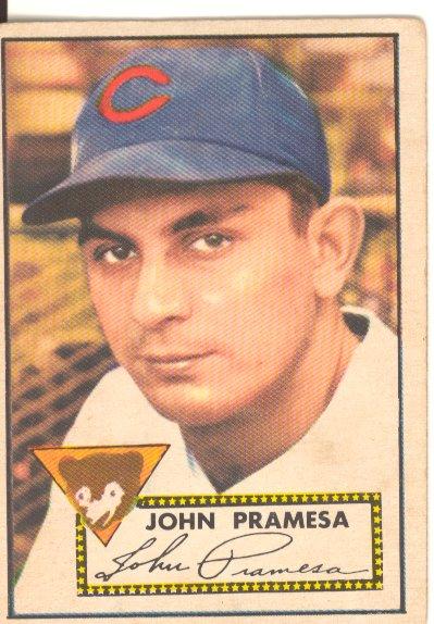 1952 Topps #105 Johnny Pramesa