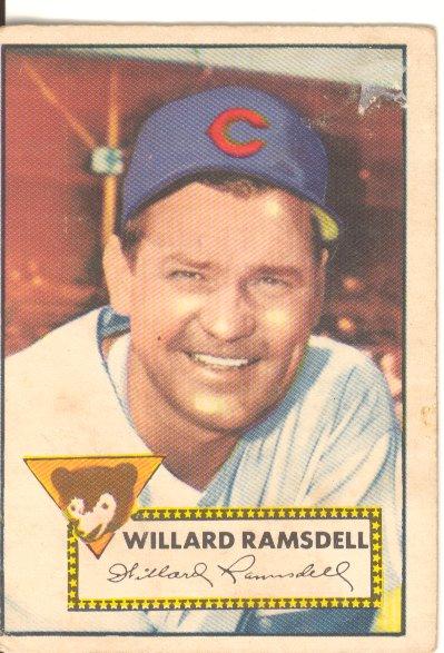 1952 Topps #114 Willard Ramsdell