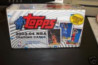 2003 - 04 ( 2004 ) Topps Basketball Factory Sealed Set In A Colorful Box  With 265 Cards Including Rookie Cards Of Lebron James , Dwayne Wade & Carmelo Anthony -  On Sale & In Stock Now