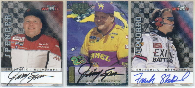 1998 Wheels Autographs #6 Jimmy Spencer/200