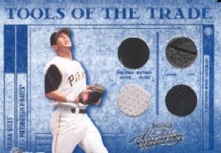 2003 Absolute Memorabilia Tools of the Trade Materials #TT109 Brian Giles/Btg Glv-Fld Glv-Hat-Shoe/50