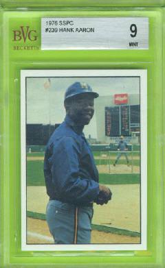 1976 SSPC #239 Hank Aaron Beckett Vintage Graded BVG Mint 9