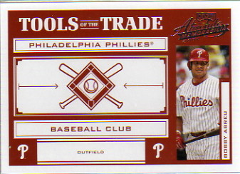 2004 Absolute Memorabilia Tools of the Trade Red #TT21 Bobby Abreu
