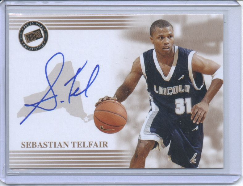 2004 Press Pass Autographs #34 Sebastian Telfair