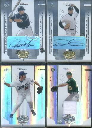 2004 Leaf Certified Materials #286 Justin Leone NG AU RC