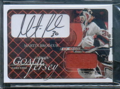 2003-04 BAP Ultimate Memorabilia Autographed Jerseys #137 Martin Brodeur
