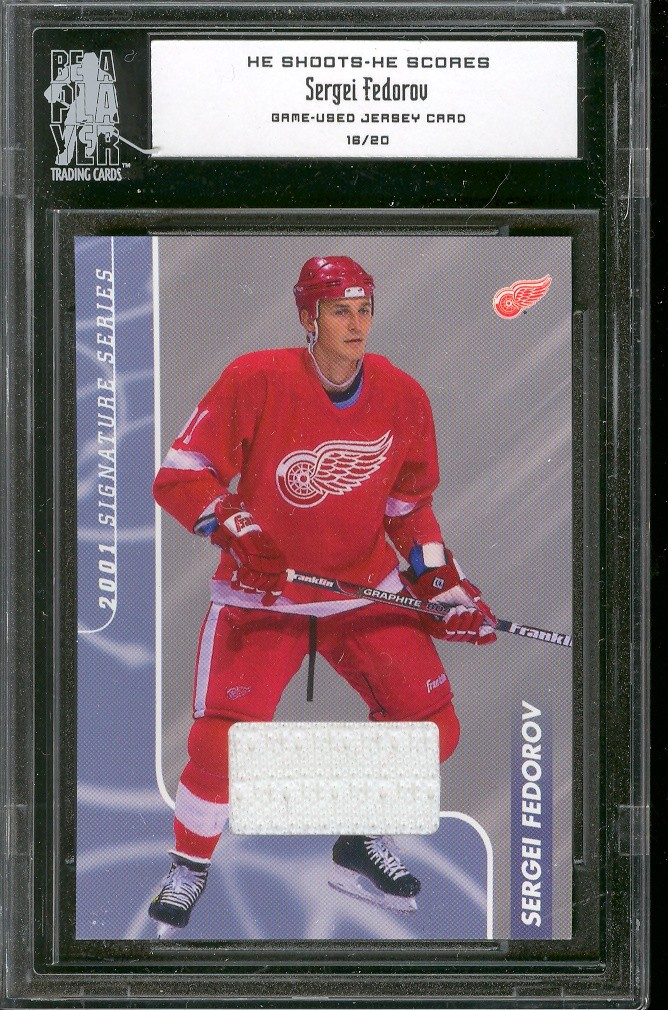 2000-01 BAP Signature Series He Shoots He Scores Prizes #23 Sergei Fedorov