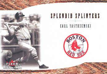 2001 Fleer Red Sox 100th Splendid Splinters #SS4 Carl Yastrzemski