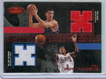 2003-04 Hoops Hot Prospects Hot Tandems Red #19 Yao Ming/Allen Iverson