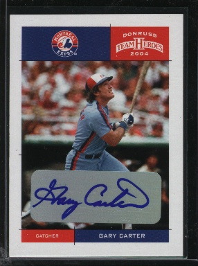 2004 Donruss Team Heroes Autographs #260 Gary Carter/10
