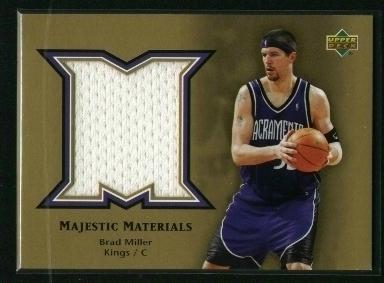 2004-05 Upper Deck Majestic Materials #BM Brad Miller