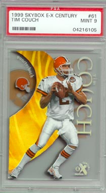 1999 Skybox E-X Century Football #61 Tim Couch ROOKIE PSA Mint 9 Cleveland BROWNS BEAUTIFUL!