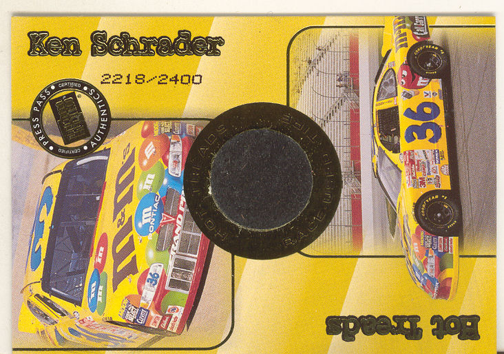 2001 Press Pass Hot Treads #HT5 Ken Schrader/2500