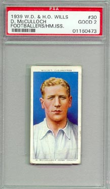 1939 W.D. & H.O. Wills D. McCulloch Footballers British Football Soccer PSA Graded