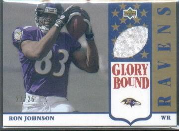 2002 UD Authentics Glory Bound Jerseys Gold #GBJRJ Ron Johnson