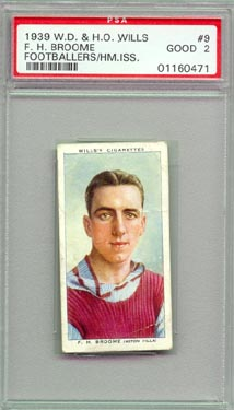 1939 W.D. & H.O. Wills J. Simpson Tobacco / Cigarette card British Football Soccer
