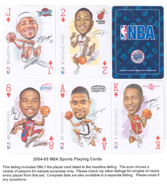 815ed16d8d2 2005 NBA Sports Playing Cards  2D Dwyane Wade - MINT - Steve Taft ...