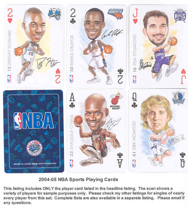 0e939a9c798 2005 NBA Sports Playing Cards  2H Dwight Howard - MINT - Steve Taft ...