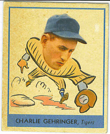 1938 Goudey Heads-Up #241 Charley Gehringer