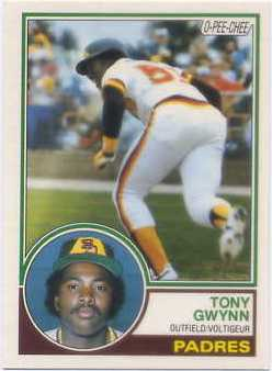 1983 O-Pee-Chee #143 Tony Gwynn RC
