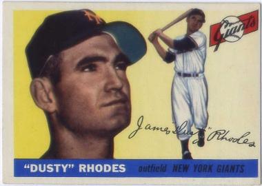 1955 Topps #1 Dusty Rhodes