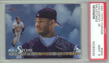 1998 Topps Chrome Baseball #MS5 Ken Griffey Jr Chrome Milestones PSA MINT 9 NICE!!