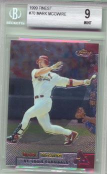 1999  Topps Finest Baseball #70 Mark McGwire BGS Mint 9 NICE!!
