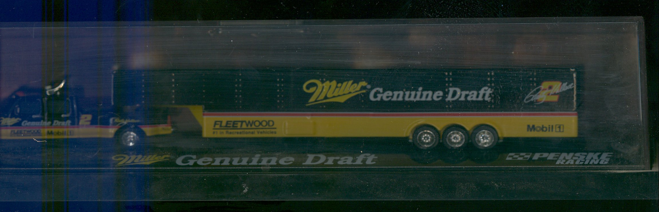 1995 Action/RCCA Dually Trucks with Trailer 1:64 #2 R.Wallace/Miller Genuine Draft