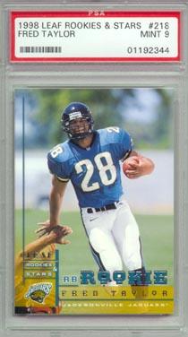 1998 Leaf Rookies & Stars #218 Fred Taylor ROOKIE PSA Mint 9 Jacksonville JAGUARS NICE!!