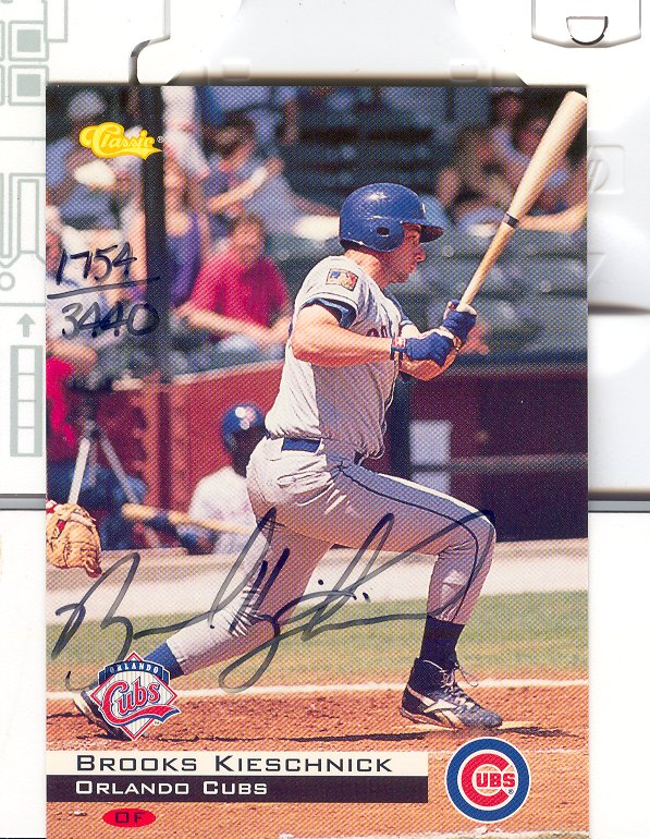 1994 Classic Autographs #AU3 Brooks Kieschnick/3400