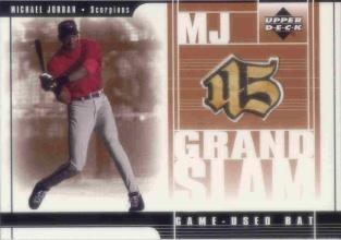 2001 Upper Deck Prospect Premieres MJ Grandslam Game Bat #MJ4 Michael Jordan