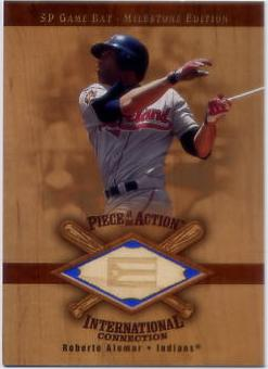 2001 SP Game Bat Milestone Piece of Action International #IRA Roberto Alomar