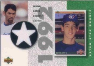 2002 UD Authentics Retro Star Rookie Jerseys #SRSG Shawn Green