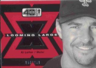 2002 Upper Deck 40-Man Looming Large Jerseys Gold #LAL Al Leiter