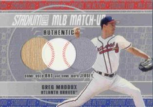 2003 Stadium Club MLB Match-Up Dual Relics #GM Greg Maddux