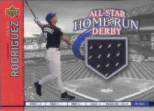 2002 Upper Deck All-Star Home Run Derby Game Jersey #ASAR Alex Rodriguez