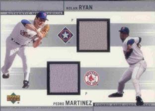 2002 Upper Deck Combo Memorabilia #JRM Nolan Ryan Jsy/Pedro Martinez Jsy
