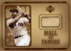 2001 Upper Deck Hall of Famers Game Bat #BJF Jimmie Foxx