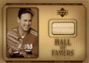 2001 Upper Deck Hall of Famers Game Bat #BNR Nolan Ryan