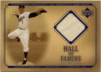 2001 Upper Deck Hall of Famers Game Jersey #JPW Pee Wee Reese