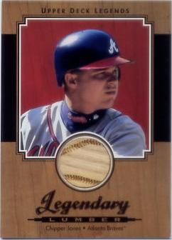 2001 Upper Deck Legends Legendary Lumber #LCJ Chipper Jones