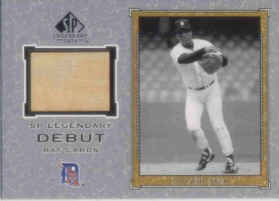 2001 SP Legendary Cuts Debut Game Bat #BLW Lou Whitaker